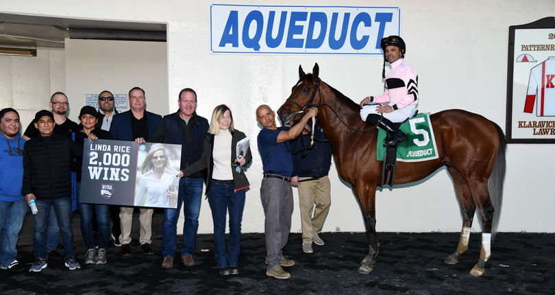 Rice earns 2,000th win as Scilly Cay romps in $100K Rego Park